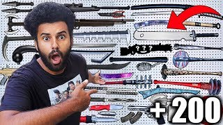 Showing My ENTIRE $25,000 WEAPONS COLLECTION!! *ANIME, GAMING, MOVIES, AND MORE!!*