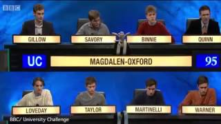 University Challenge Ted Loveday Daily Mail Online