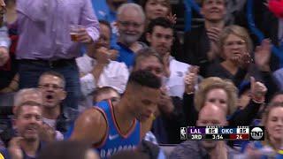 3rd Quarter, One Box : Oklahoma City Thunder vs. Los Angeles Lakers