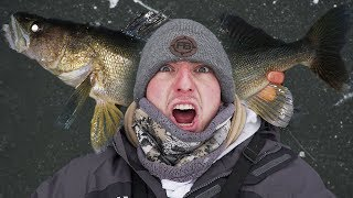 Mille Lacs Lake First Ice! (Big Fish)