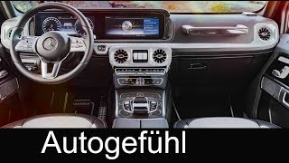 all-new Mercedes G-Class Interior Preview G-Klasse 2018 - Autogefühl