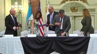 Firma de Convenio entre SBS y Embajada de Estados Unidos