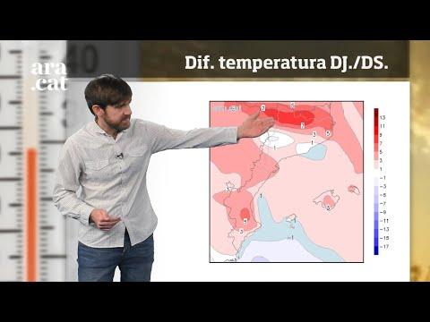 Méteo especial: el termòmetre tocarà fons entre divendres i dissabte