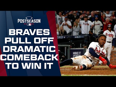 Braves pull off DRAMATIC late comeback, score two in the 8th and one in the 9th to beat the Dodgers!