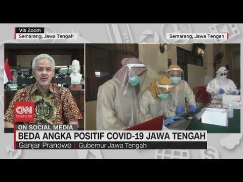 Beda Angka Positif Covid-19 Jawa Tengah