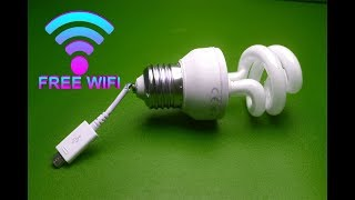 Free internet WiFi Using With Light Bulb / Experiments at home - New 2019