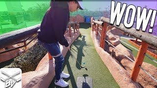 I HAVE NEVER SEEN A MINI GOLF HOLE IN ONE LIKE THIS BEFORE!