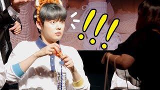 TXT 투바투 : 놀란 팬, 놀란 연준 (feat. 수빈 SOOBIN) YEONJUN be surprised : Edited fancam : fansign 시네파크 190504