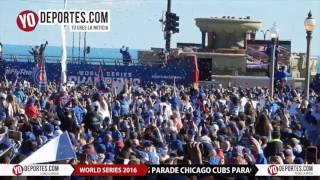Chicago Cubs World series Parade Rally