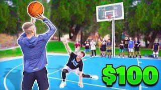 Score On Me, Win $100 vs Random People Basketball