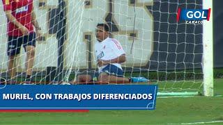 Luis Fernando Muriel, el único de los convocados que hizo trabajos diferenciados en la Selección
