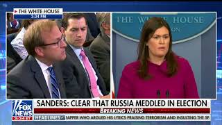 Sanders defends Trump's attack on the FBI for the Russia investigation