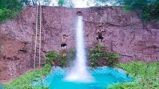 Dig To Build Swimming Pool Water Slide Around Secret Underground House