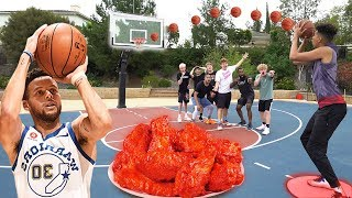 4 Point Shot Challenge w/ HOTTEST WINGS FORFEIT ft. 2HYPE!
