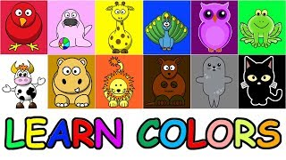 Learn Colors Animals Puzzle Blocks Game for Kids | Rompecabezas de Animales Para Niños