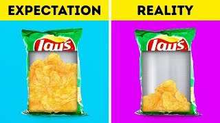 EXPECTATION VS REALITY    FOOD FACTS DON'T WANT YOU TO KNOW