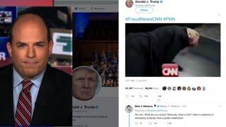 Trump posts anti-CNN on Twitter