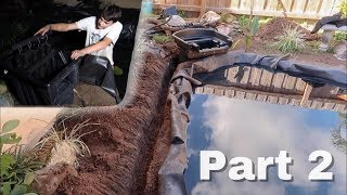 Were ALMOST DONE! Waterfall & Skimmer Installations! Part 2