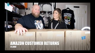 I bought a $1,960 Amazon Customer Returns Pallet w/ Mystery Boxes + Featuring The Wife