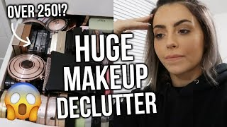 DECLUTTERING MY ENTIRE MAKEUP COLLECTION! (+ BEAUTY ROOM TOUR!) PART 1