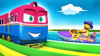 Trains for Kids | Toy Train Children Cartoon for Kids - Toy Factory kereta api gadi wala cartoon