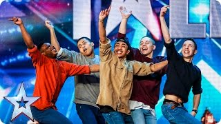 Golden buzzer act Boyband are back-flipping AMAZING! | Audition Week 2 | Britain's Got Talent 2015