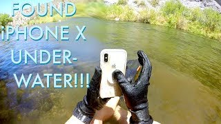 I Found an iPhone X Underwater in the River!!! (iPhone Returned to Owner - BEST REACTION EVER!)