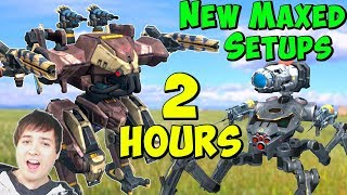 100% Maxed Fun Hangars for 2 Hours - War Robots Live Gameplay WR