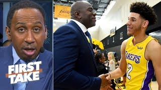 Stephen A. to Magic Johnson: Drafting Lonzo Ball was a mistake | First Take