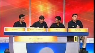 University Challenge India 2004-05: IIMK v DCE (Episode 1)