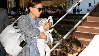 Natalie Portman And Infant Daughter Amalia Catch A Flight