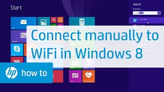 Connecting Manually to a Wireless Network in Windows 8 | HP Computers | HP