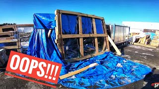 My Trucking Life | BROKEN GLASS!!! | #1638