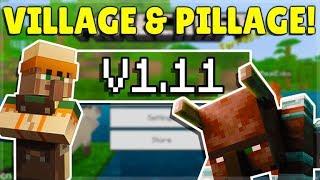MINECRAFT PE/BEDROCK 1.11 VILLAGE & PILLAGE UPDATE! - OFFICIALLY Released!