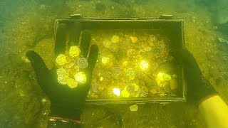 ″Found″ Gold Coins While Scuba Diving Sunken Ship! (Explored for Treasure)