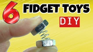 NEW! 6 AWESOME DIY FIDGET TOYS - EASY DIYS- FIDGET TOYS FOR KIDS TO MAKE USING STUFF IN YOUR HOUSE