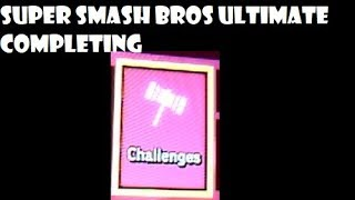 Super Smash Bros ultimate completing challenges