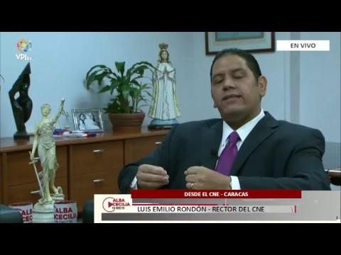 EN VIVO - Alba Cecilia En Directo, entrevista a Luis Emilio Rondón. Rector del CNE