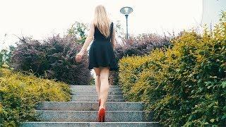 Long legs Salomea walking