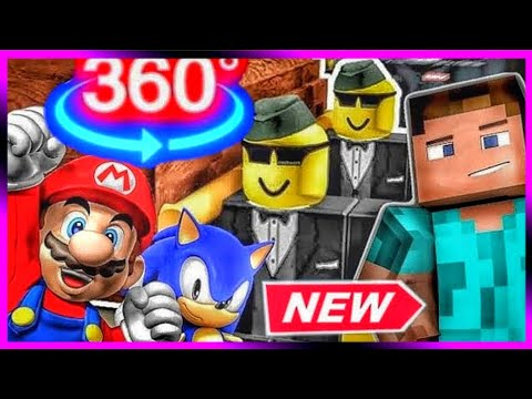 COFFIN DANCE Meme with Roblox Sonic Minecraft Mario (Astronomia Song Music) 360 VIDEO | Part 1