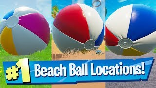 Bounce a giant beach ball in different matches Locations - Fortnite 14 Days Of Summer Challenge