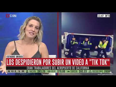 "Los despidieron por subir un video en ""Tik Tok"""