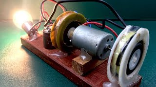 Electrical Engineering Self Running Using DC motor with light bulbs New 2019
