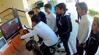 NeoOrbit and Centro Europeu @ Marista School on 05/2018 - Racing Game on a bike!