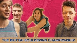 The Gang compete in the British bouldering championship
