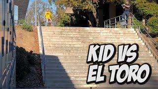 10 YEAR OLD VS EL TORO 20 STAIR RAIL Feat. Kristion Jordan - NKA VIDS -