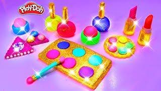 Play Doh Makeup Set How to Make Eyeshadow Lipstick 💄 Nail Polish 💅 with Play Doh Fun for Kids