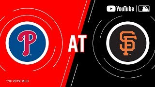 Phillies at Giants | MLB Game of the Week Live on