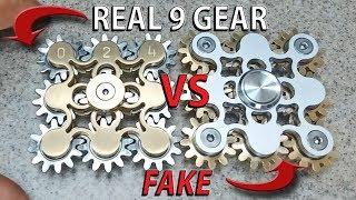 REAL VS FAKE 9 Gear Hand Spinner fidget toy, EDC finger spinner