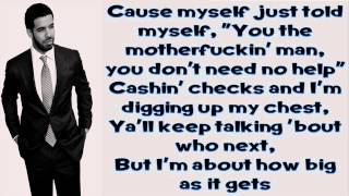 All Me - Drake Ft 2 Chainz & Big Sean (Lyrics)